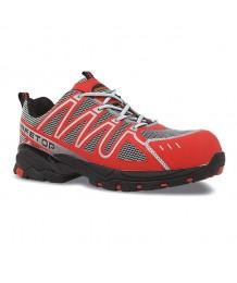 PERLIO, zapato S1P rojo de...